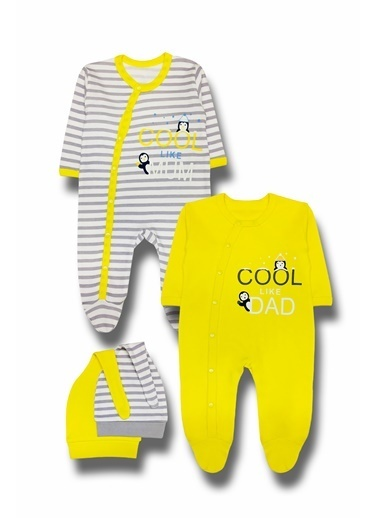 By Leyal For Kids Cool Detaylı  2Li Tulum Ve Şapka Takım-4533 Sarı